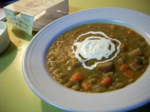 Суп из ревеня