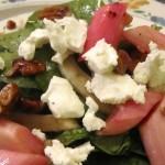Салат из ревеня с брынзой